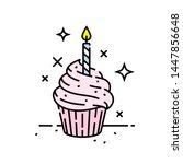 pink birthday celebration... | Shutterstock .eps vector #1447856648