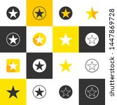 set of flat star icon design...