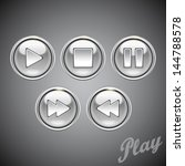 chrome player buttons vector...