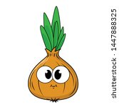funny onions in a cartoon style....