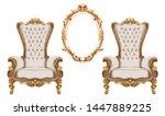 baroque furniture set vector... | Shutterstock .eps vector #1447889225