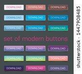 web elements vector button set | Shutterstock .eps vector #1447908485