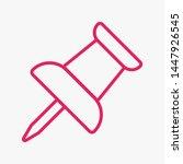 vector push pin icon  pushpin... | Shutterstock .eps vector #1447926545