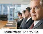multiethnic business people... | Shutterstock . vector #144792715