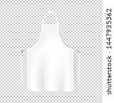 mockup white aprons isolated... | Shutterstock . vector #1447935362