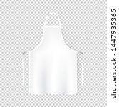 mockup white aprons isolated... | Shutterstock .eps vector #1447935365
