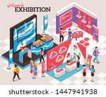 isometric expo stand...   Shutterstock .eps vector #1447941938