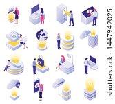 datacenter isometric icons... | Shutterstock .eps vector #1447942025