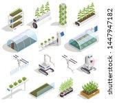 modern green house isometric...