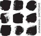 vector dry brush stroke grunge. ... | Shutterstock .eps vector #1447951445