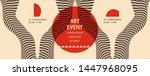 art event invitation template... | Shutterstock .eps vector #1447968095