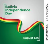Happy Plurinational State of Bolivia Independence Day Vector Design Template Illustration