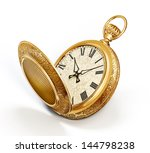 Vintage Watch Isolated On A...