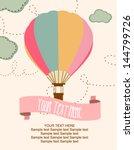 happy birthday air balloon card | Shutterstock .eps vector #144799726
