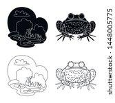 vector design of wildlife and... | Shutterstock .eps vector #1448005775