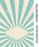 sunlight retro grunge wallpaper ... | Shutterstock .eps vector #1448048705