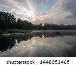 Foggy And Mystical Lake...