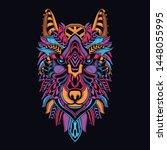 glow in the dark decorative... | Shutterstock .eps vector #1448055995