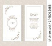 vector set ornamental... | Shutterstock .eps vector #1448062688