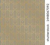 retro art deco vibes geometric... | Shutterstock .eps vector #1448067092