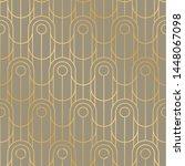 vintage vibes geometric line... | Shutterstock .eps vector #1448067098