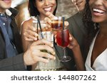 closeup of happy multiethnic... | Shutterstock . vector #144807262