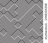 monochrome geometric pattern....   Shutterstock .eps vector #1448104208