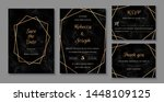 elegant wedding invitations set ... | Shutterstock .eps vector #1448109125