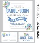 rustic floral wedding... | Shutterstock .eps vector #144811816