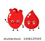 cute happy smiling blood drop... | Shutterstock .eps vector #1448129345