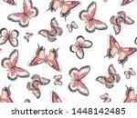 vector beautiful delicate... | Shutterstock .eps vector #1448142485