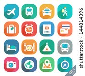 traveling and transport flat... | Shutterstock .eps vector #144814396
