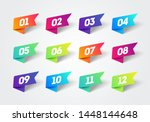 vector number bullet point 1 to ... | Shutterstock .eps vector #1448144648