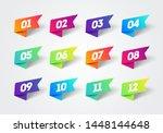 vector number bullet point 1 to ... | Shutterstock .eps vector #1448144648