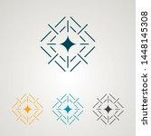 geometric star logo. firework... | Shutterstock .eps vector #1448145308