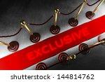 two velvet rope barrier lines... | Shutterstock . vector #144814762