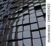 black cubes wall with light...   Shutterstock . vector #1448151422