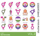 lgbt  icons including biphobia  ... | Shutterstock .eps vector #1448160005