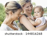 grandmother with mother and... | Shutterstock . vector #144816268