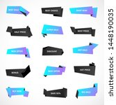 vector stickers  price tag ... | Shutterstock .eps vector #1448190035