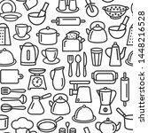 kitchen seamless tools modern... | Shutterstock .eps vector #1448216528