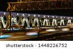 night traffic on the urban... | Shutterstock . vector #1448226752
