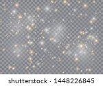 light glow effect stars. vector ... | Shutterstock .eps vector #1448226845