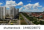 aerial view of the residential... | Shutterstock . vector #1448228072