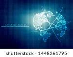 2d illustration world map... | Shutterstock . vector #1448261795