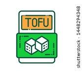 tofu color line icon. meat...