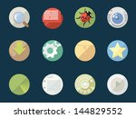 rounded  flat icons for web and ... | Shutterstock .eps vector #144829552