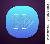 double arrows app icon. fast...