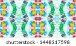folk seamless pattern with...   Shutterstock . vector #1448317598