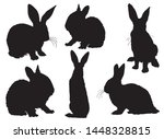 graphical set of bunny... | Shutterstock .eps vector #1448328815